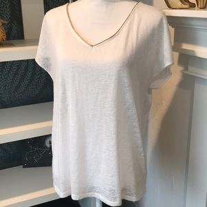 NY&C White and Gold Blouse